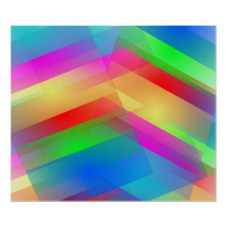 Modern Rainbow Abstract Poster