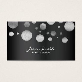 Modern Random Dots Piano Teacher Business Card