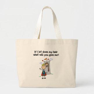 Modern Rapunzel  Jumbo Tote Bag