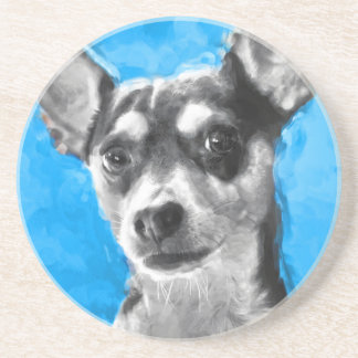Modern Rat Terrier Coaster