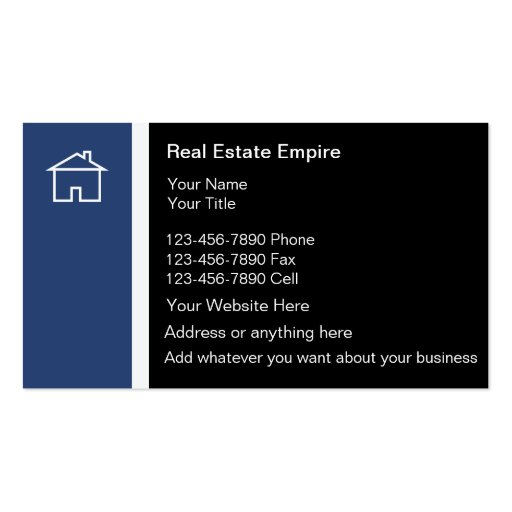 Property management business cards 500 property for Modern real estate business cards