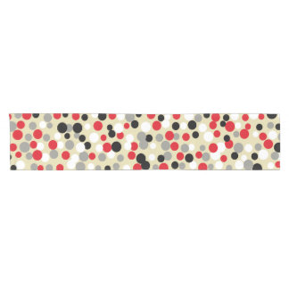 Modern Red and Black Table Runner