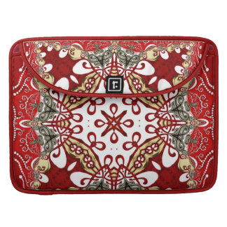 Modern Red Batik Art Rickshaw Flap Sleeve