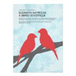 Modern Red Bird Wedding Invitations