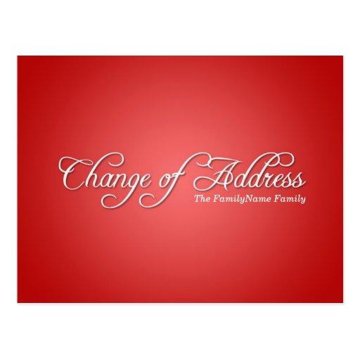 Modern Red Change of Address Postcard