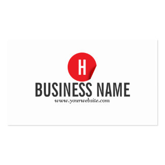 Modern Red Dot Optometrist Business Card