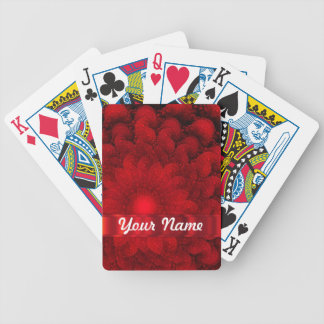 Modern red fractal abstract poker deck