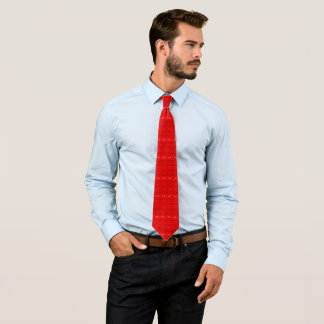 Modern Red Geometric Floral Pattern Tie