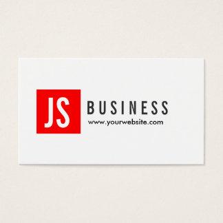 Modern Red Logo Landscape Architect Business Card