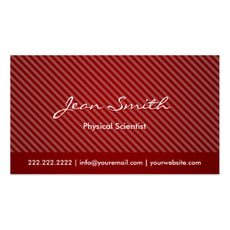Modern Red Physical Scientist Business Card