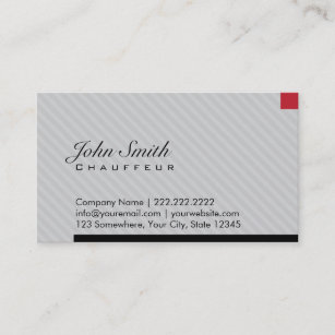Chauffeur business cards zazzle au modern red pixel chauffeur business card colourmoves