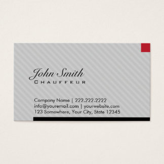 Modern Red Pixel Chauffeur Business Card