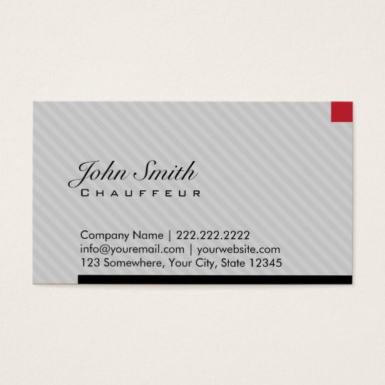 Modern red pixel chauffeur business card zazzle for Chauffeur business cards