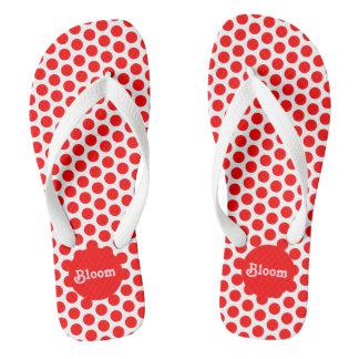 Modern Red Polka Dots Thongs