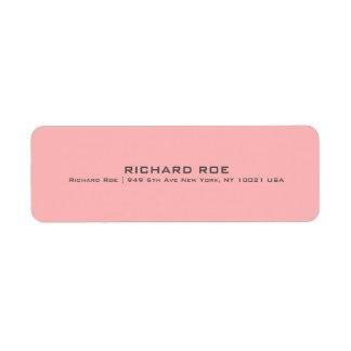 Modern Red Professional Return Address Label
