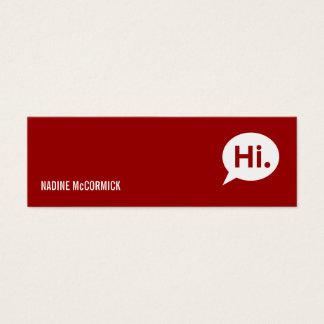 Modern Red Profile Card