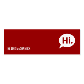 Modern Red Profile Card Pack Of Skinny Business Cards