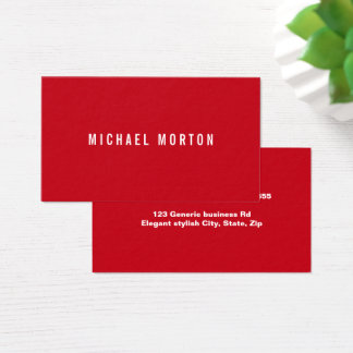 Modern red simple generic professional