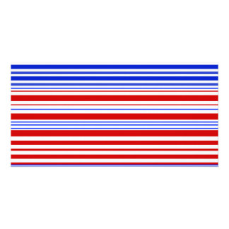 Modern red white and blue stripes photo card template