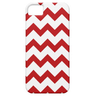 Modern Red White Chevron Pattern iPhone 5 5S Case