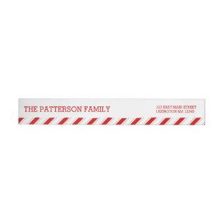 Modern Red | White Christmas Address Label