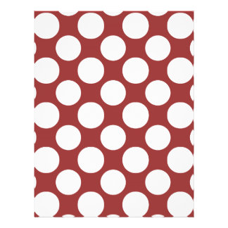 Modern Red White Polka Dots Pattern Full Color Flyer