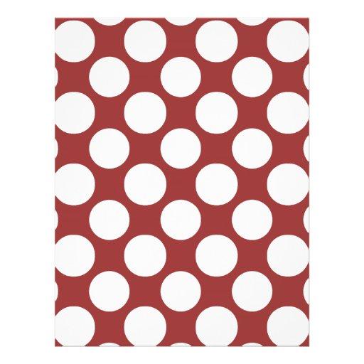Modern Red White Polka Dots Pattern Full Color Flyer