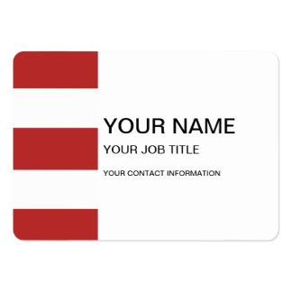 Modern Red White Stripes Pattern Business Card Template