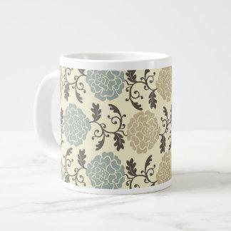 Modern Regal Rose Floral Print Jumbo Mug