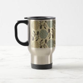 Modern Regal Rose Floral Print Travel Mug
