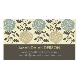 Modern Regal Rose Print Business Cards