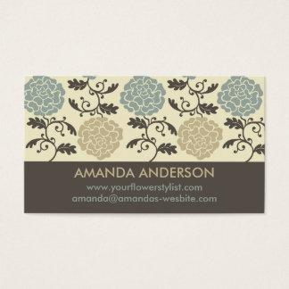 Modern Regal Rose Print Business Cards