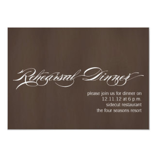 Modern Rehearsal Dinner Invitations Brown Texture