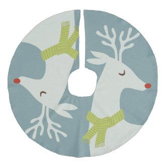 Modern Reindeer Christmas Tree Skirt