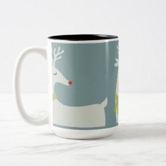 Modern Reindeer Holiday Mug