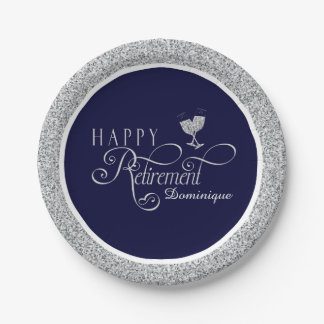 Modern Retirement Party Plates 7 Inch Paper Plate