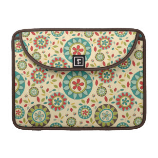 Modern Retro Brown Floral MacBook Pro Sleeve