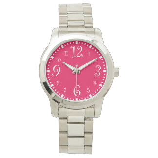 Modern Retro Chic Hot Pink Watch