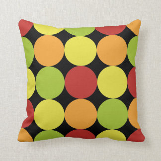 Modern Retro Circles Pattern Throw Pillow