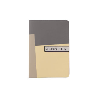 Modern Retro Color Geometric Pattern #20 Passport Holder