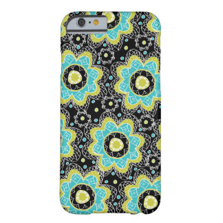 Modern Retro Flower Teal & LIme Barely There iPhone 6 Case