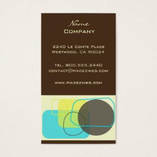 Modern Retro Geometric Design Business Card