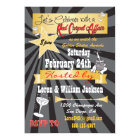 Modern retro Hollywood Red Carpet Party Invitation