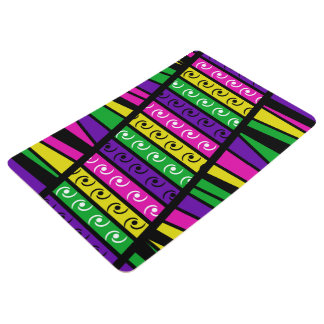 Modern Retro Multi Colored Floor Mat