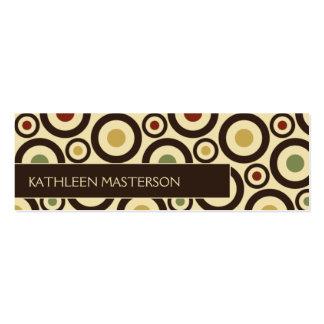 Modern Retro Polka Dot Customized Profile Card / Business Cards