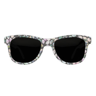 Modern & Romantic Black & Mint Sunglasses