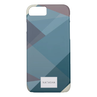 Modern Romantic Colour Block iPhone 7 Case