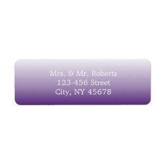 modern romantic summer lilac ombre purple wedding return address label