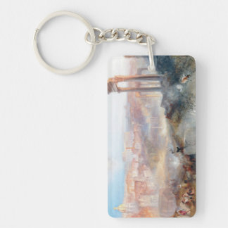 Modern Rome Campo Vaccino Joseph Mallord William Double-Sided Rectangular Acrylic Key Ring