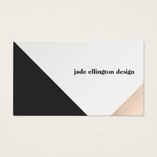 Modern Rose Gold and Black Geometric